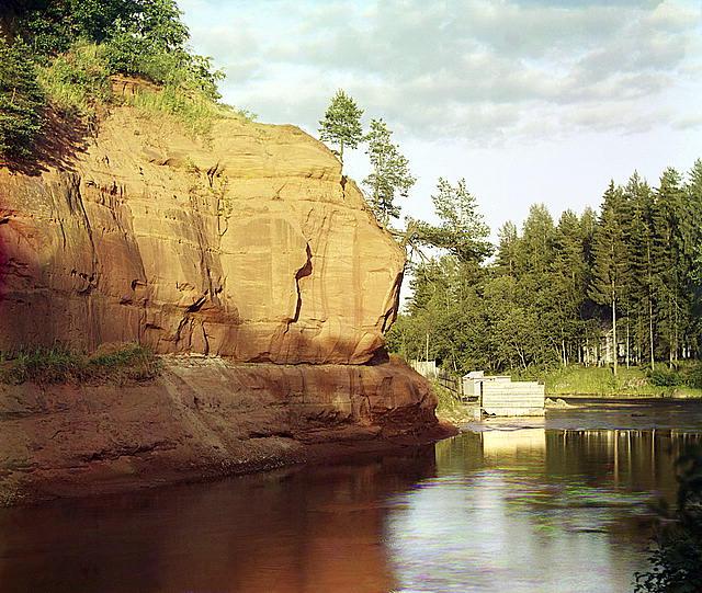 На р.Ордежь близ ст.Сиверская С-Петерб. губ.(между 1905и 1915г)
