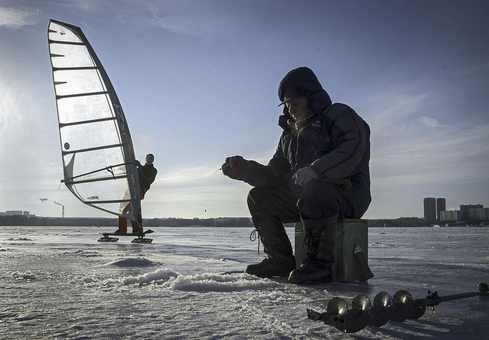 Зимняя рыбалка в Строгино.С.Пономарев