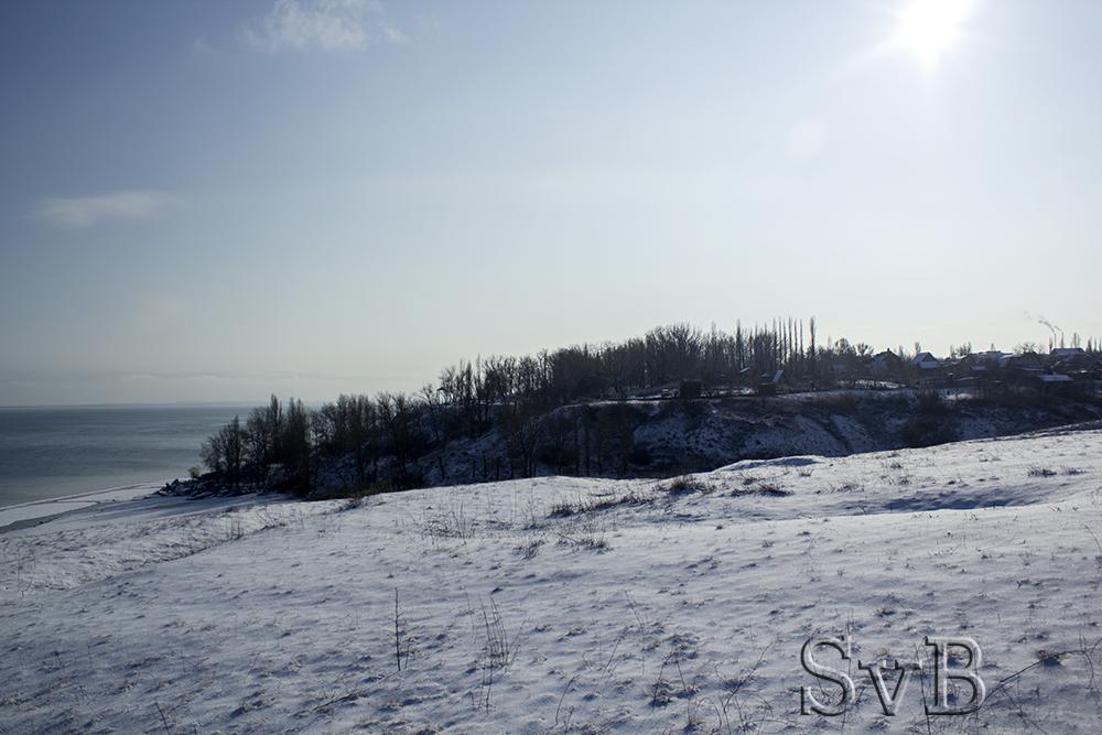 Цимлянское водохранилище зимой