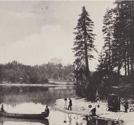 Альберт Йозеф фотографирует .1857