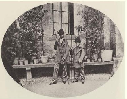 Баварские принцы в национальных костюмах. Альберт, Йозеф. 1860