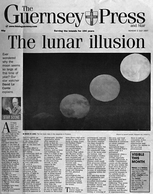Страница с фотографией Guernsey Press.