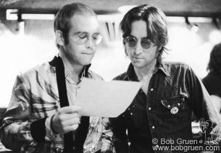 Джон Леннон и Элтон Джон,1974